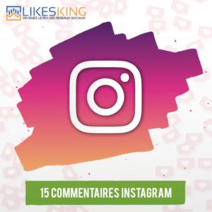 15 Commentaires Instagram