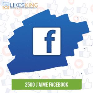 2500 J'aime Facebook