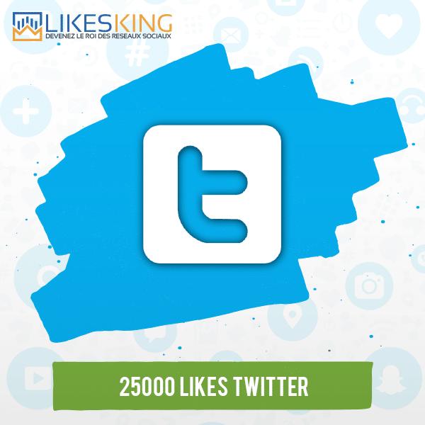 25000 Likes Twitter