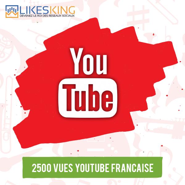 2500 Vues Youtube Française